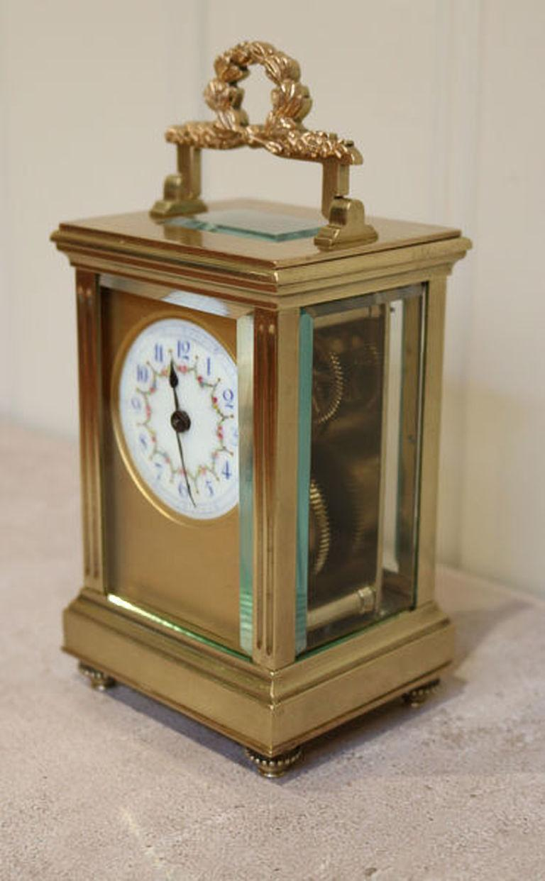 19th Century French Empire Carriage Clock For Sale