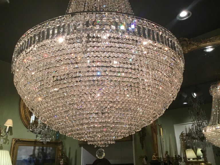 French Empire Chandelier In Good Condition For Sale In Houston, TX