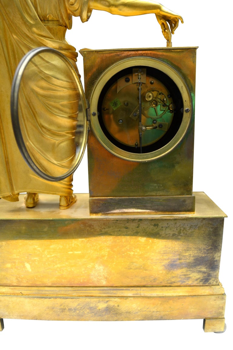 French Empire Clock Depicting Napoleon Dressed as Caesar In Good Condition For Sale In Vancouver, British Columbia