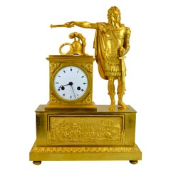 French Empire clock showing Louis XVI dressed as Caesar