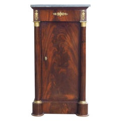 "French Empire Cuban Mahogany ""Somno"" Side Table, circa 1805"