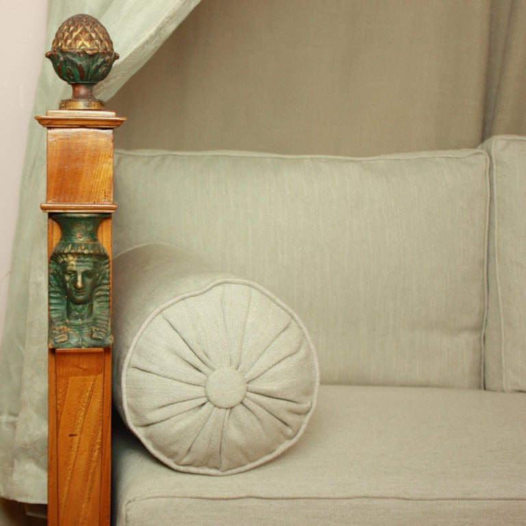 French Empire Daybed with Demilune Canopy, circa 1815 For Sale 1