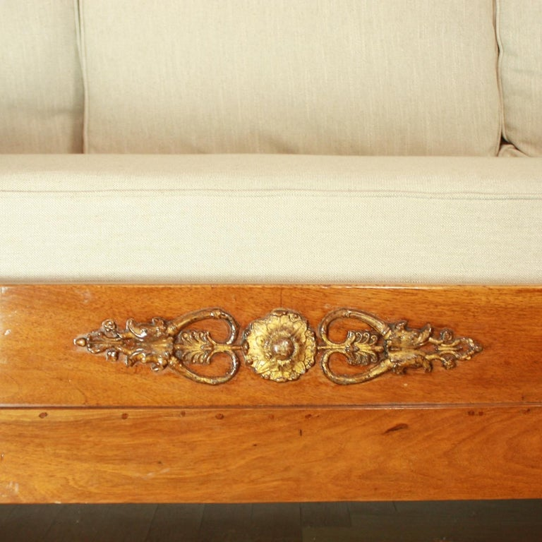 French Empire Daybed with Demilune Canopy, circa 1815 For Sale 3