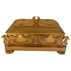 French Empire Gilt Bronze Box