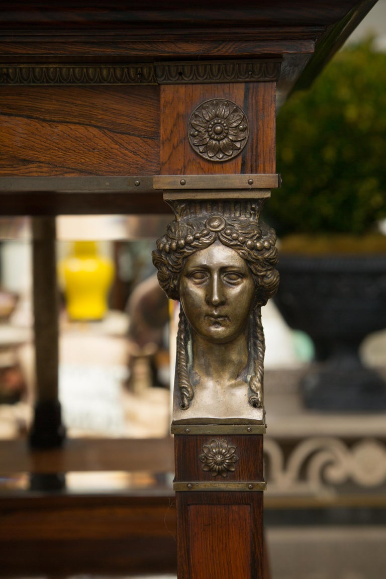 French Empire Gilt Metal and Rosewood Étagère For Sale 10