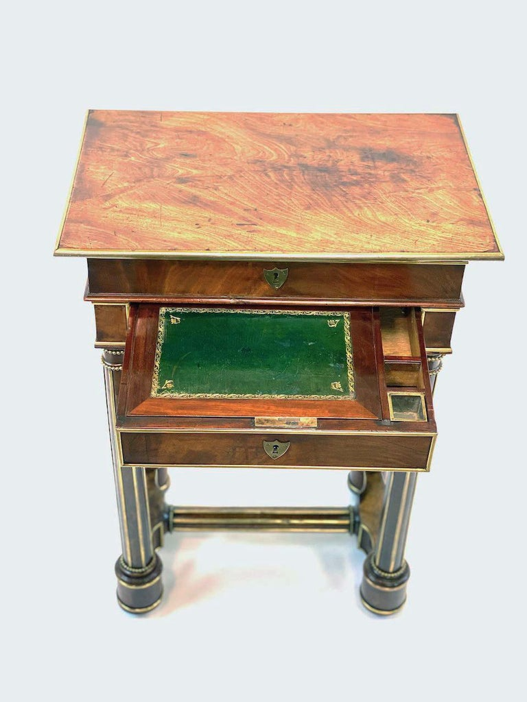 19th Century French Officers Campaign Desk  For Sale 5