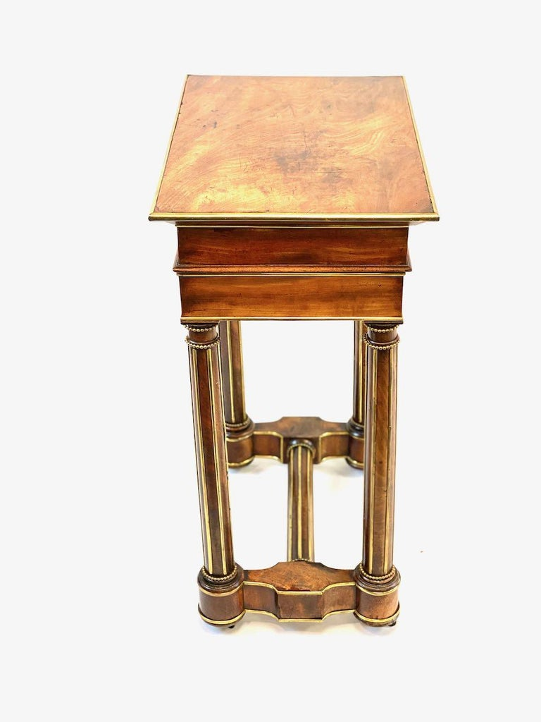 Veneer 19th Century French Officers Campaign Desk  For Sale
