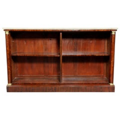 French Empire Mahogany Bookcase