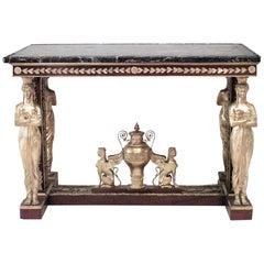 French Empire Mahogany Center Table