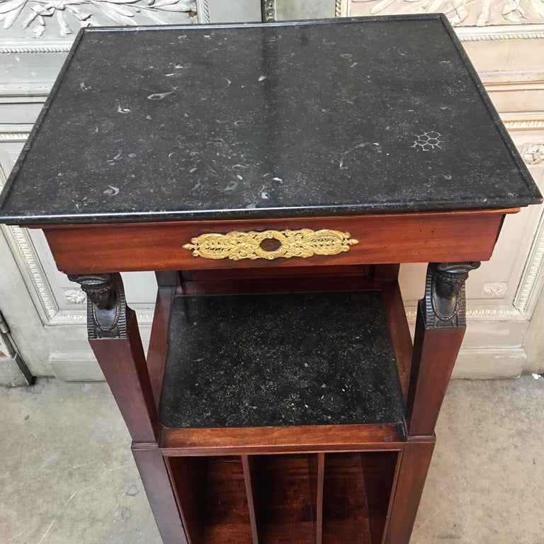 French Empire Mahogany Shaving Stand For Sale 6