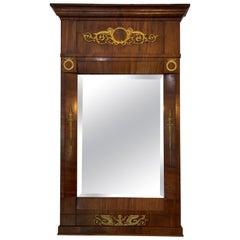 French Empire Mahogany Trumeau Mirror