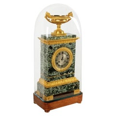French Empire Marble & Ormolu Clock, 19th Century