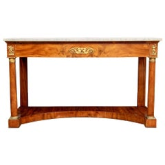 French Empire Marble Top Console, circa 1820
