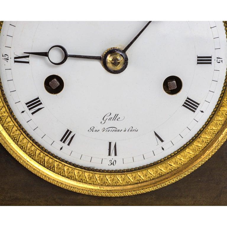French Empire Ormolu Figural Mantel Clock For Sale 1