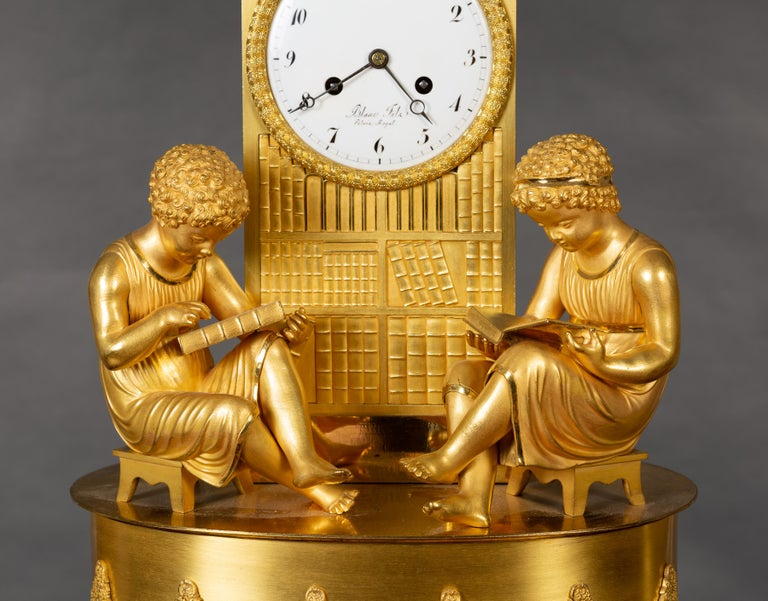 Other French Empire Ormolu Mantel Clock For Sale