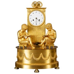 French Empire Ormolu Mantel Clock