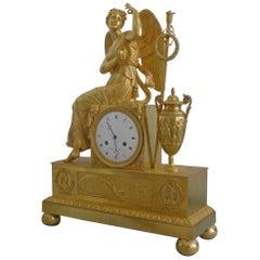 French Empire Ormolu Mantel Clock of the Goddess Iris