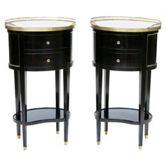 French Empire Oval Occasional Tables