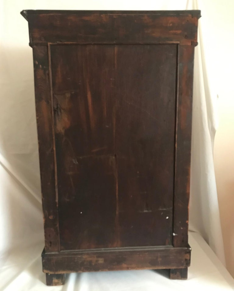 French Empire Period Petite Mahogany Console with Mirror, circa 1810 For Sale 5