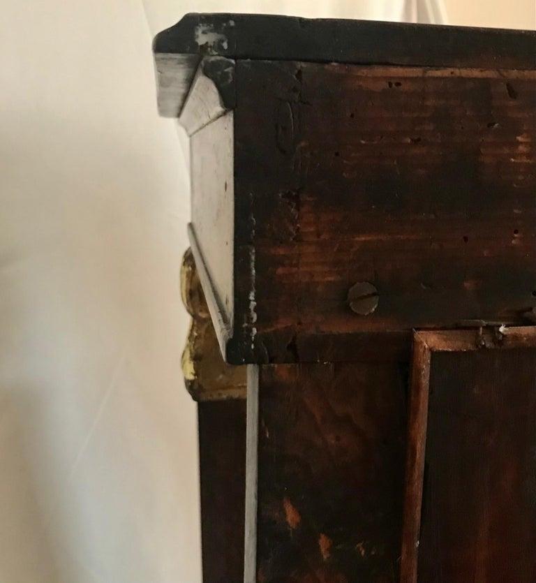 French Empire Period Petite Mahogany Console with Mirror, circa 1810 For Sale 6