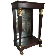 French Empire Period Petite Mahogany Console with Mirror, circa 1810