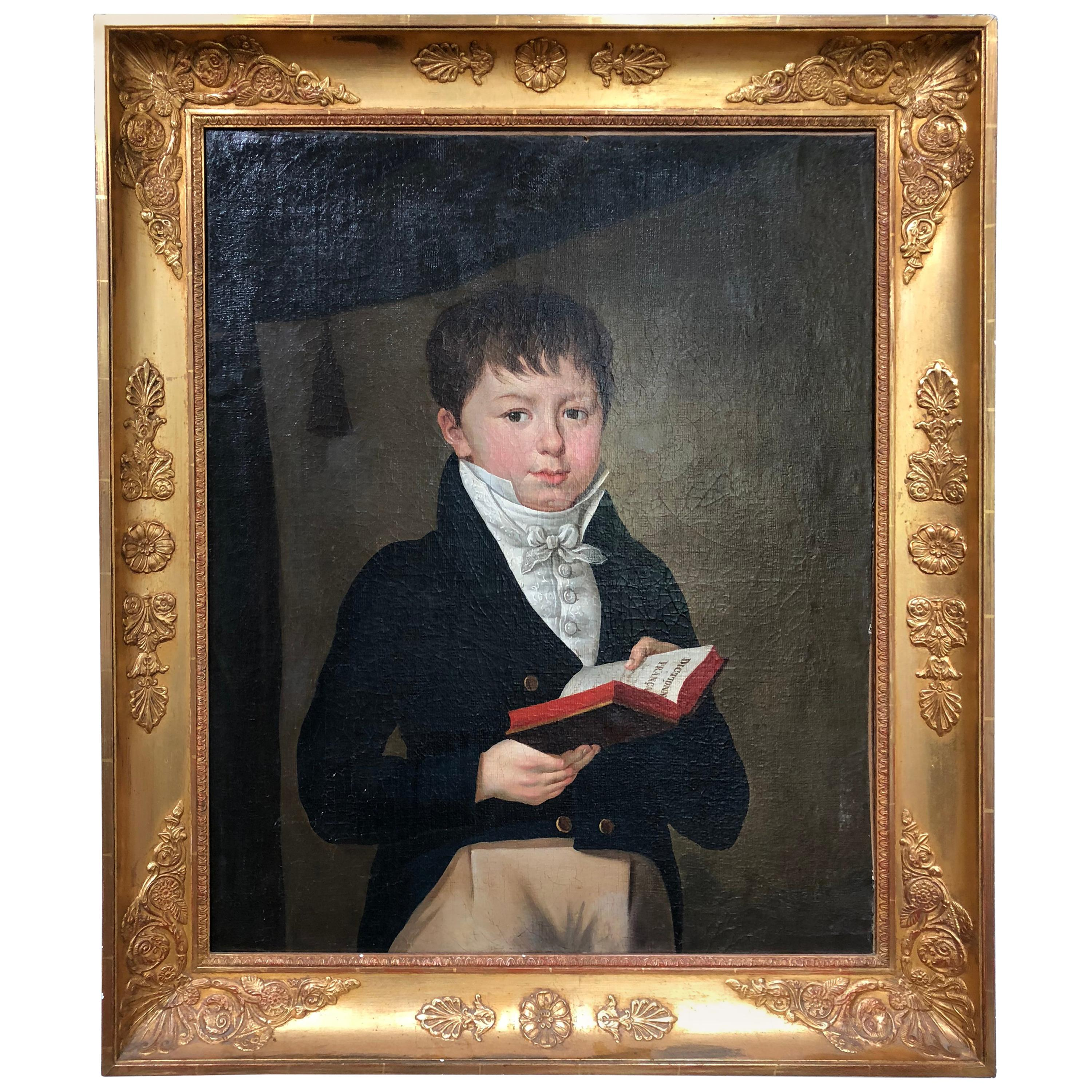 French Empire Portrait of Boy, circa 1810