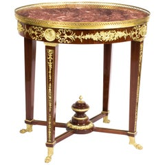 French Empire Revival Rouge Marble-Top Ormolu-Mounted Occasional Centre Table