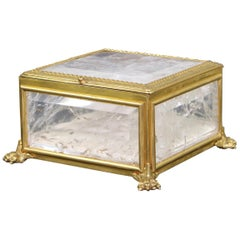 French Empire Rock Crystal and Ormolu Box
