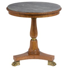 Circa 1830s French Empire Style Center Side Table