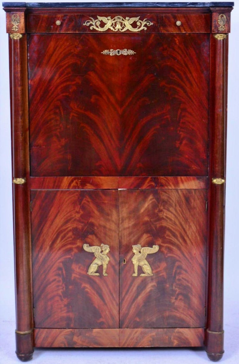 Hand-Crafted French Empire Secretaire