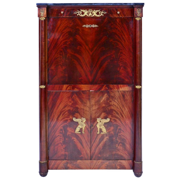 """French Empire Secretaire """"A Abattant"""" 19th Century For Sale"""