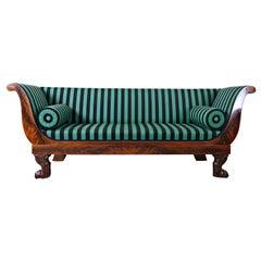 French Empire Sofa, Mahogany, circa 1810