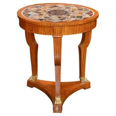 French Empire Specimen Marble Side Table
