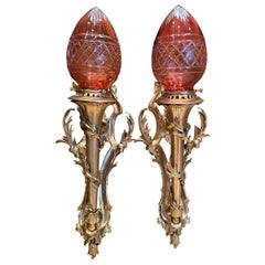 French Empire Statue of Liberty Wall Sconces, 20th Century