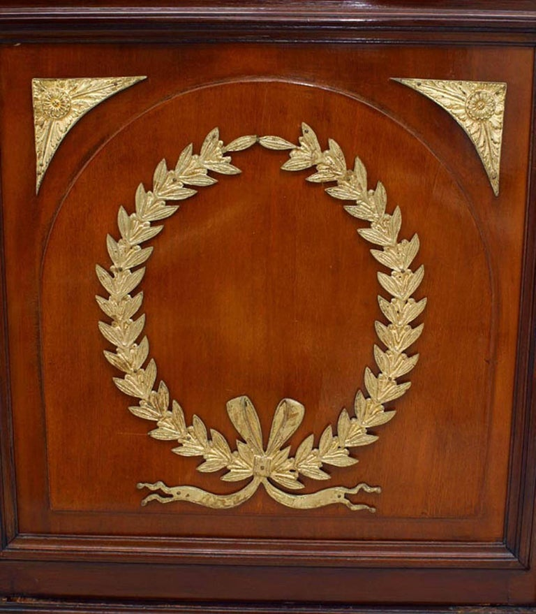 French Empire Style 19th Century Mahogany Bookcase Cabinet For Sale At 1stdibs