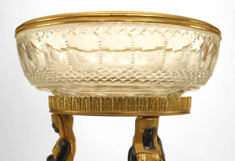 French Empire Style, 19th Century Bronze Dore Compote For Sale 1