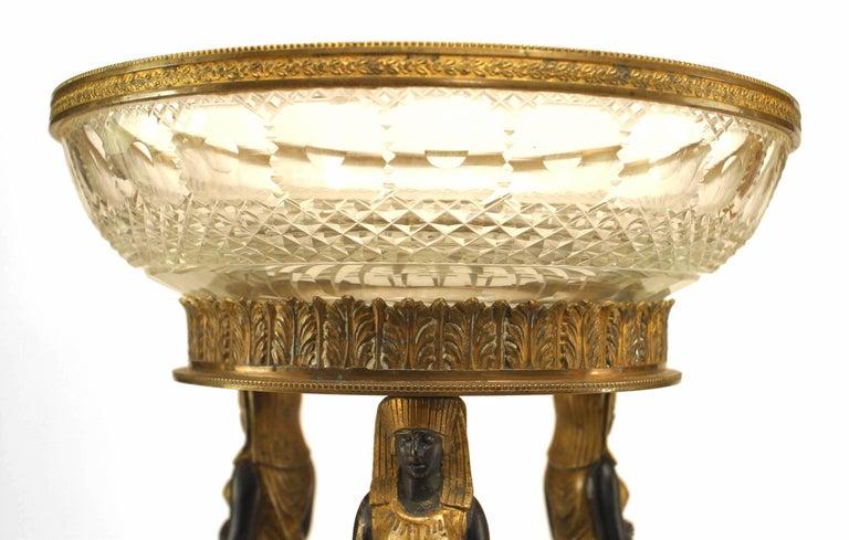 French Empire Style, 19th Century Bronze Dore Compote For Sale 2