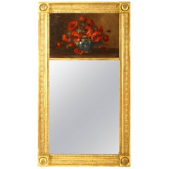 French Empire Style '19th Century' Gilt Carved Frame Trumeau Mirror