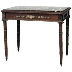 French Empire Style '19th Century' Mahogany and Bronze Trimmed Table