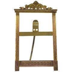 French Empire Style Brass Desk Frame