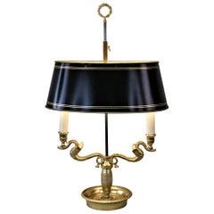 French Empire Style Bronze Bouillotte Desk, Table Lamp