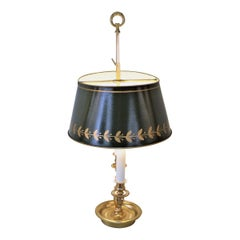 French Empire Style Bronze Bouillotte Table Lamp-Desk Lamp