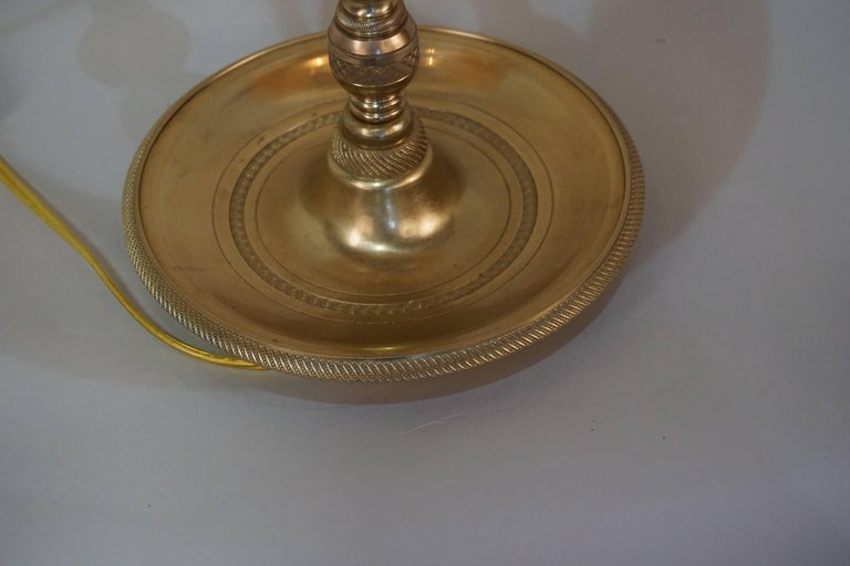 French Empire Style Bronze Bouillotte Table Lamp For Sale 4