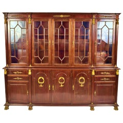 French Empire Style Cabinet 19th-20th Century Mahogany Wood