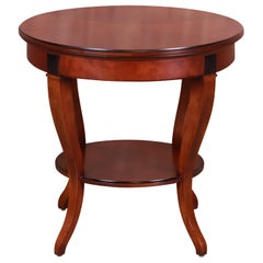 French Empire Style Cherry Wood Tea Table by Hickory Chair Company