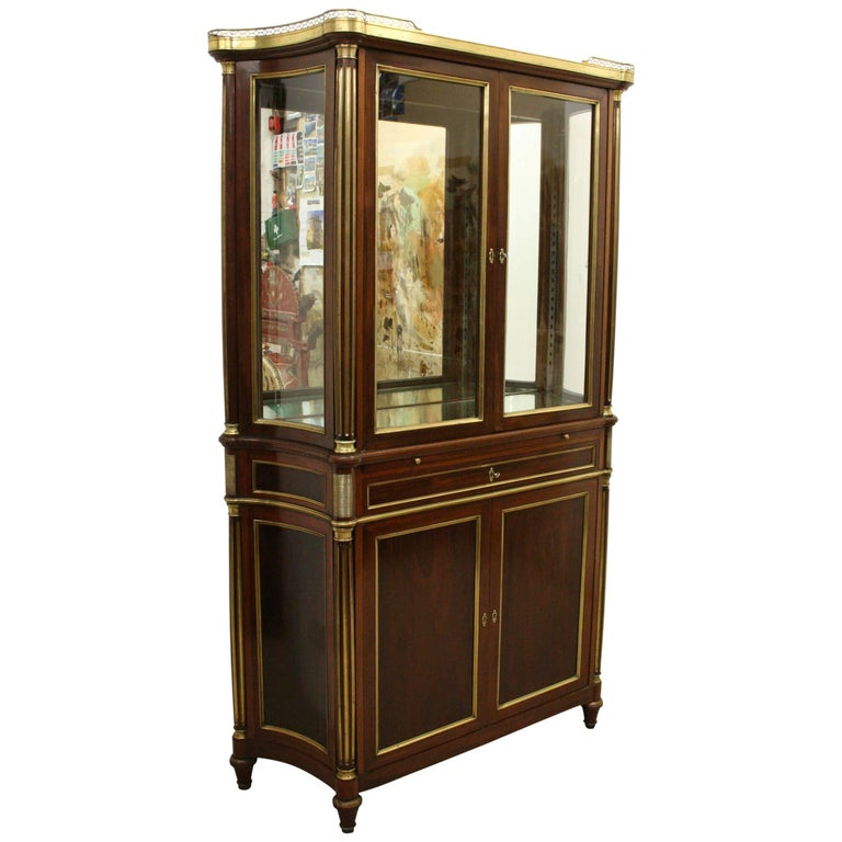 French Empire Style Display Cabinet For Sale at 1stdibs