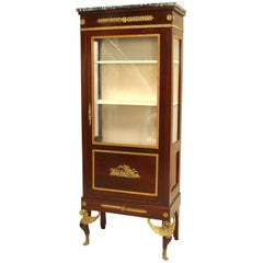French Empire Style Display/Vitrine Cabinet