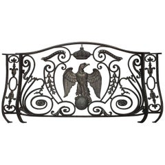 French Empire Style Iron and Bronze Trimmed Railing, 19th Century