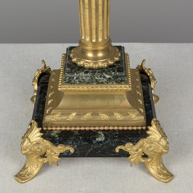 French Empire Style Lamp with Bronze Eagle For Sale 7