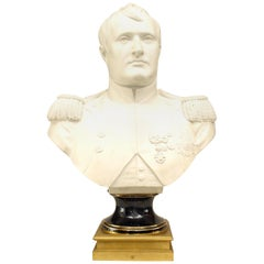 French Empire Style Life-Size Parian Bust of Napoleon by Houdon